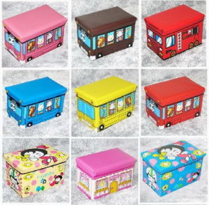 Latest Foldable Storage Stool Cute Ottoman Folding Storage Box (RJ11290)