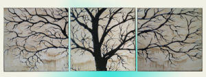 Canvas Landscape Tree Group Oil Painting for Home Decoration (LH-087000)