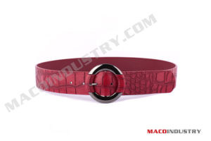 Wide High Waist Crocodile Print Belt (Maco222)