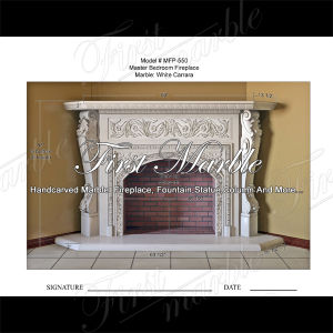 Top Quality White Carrara Fireplace for Home Furniture Mfp-550
