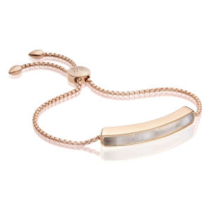 Stainless Steel Monica Vinader Rose Gold Friendship Bracelet