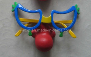 Plastic Funny Clown Nose Glasses (PM080) pictures & photos