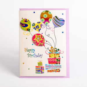 Amazing China Rainbow Stamping 3D Creative Handmade Happy Brithday Funny Birthday Cards Online Fluifree Goldxyz