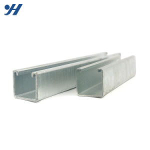 C and U Slotted Galvanized Shaped Steel Profile Strut Channel pictures & photos