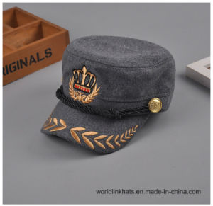 China Cotton Vintage Embroidery Short Brim Service Baseball Cap with ... 8e090899eec