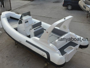 Liya 25FT 7.5m Hypalon Rigid Rib Boat China for Sale pictures & photos