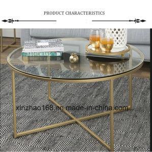 Flexible Smart Modern Design Swivel Bent Glass Metal Coffee Table