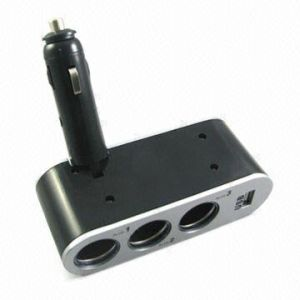 In-car Charger with 12V Triple Socket Output and 5V USB Output pictures & photos