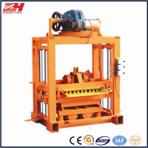 Qtj4-40 Concrete Standard/Hollow Block Making Machine with Moulds