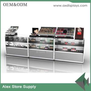 Cosmetic Counter Shop Display Cabinet Design Makeup Showcase With Acrylic  Lipstick Stand