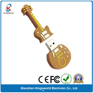 Cute PVC Guitar 2GB USB Flash