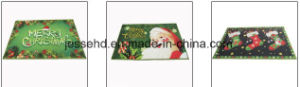 Christmas Pettern Printed Doormats with Latex Backing pictures & photos