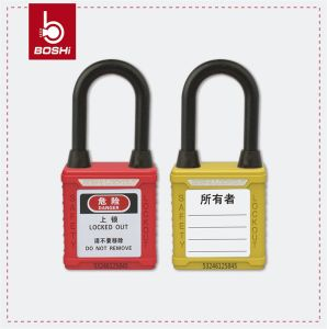 38mm Shack Length Nylon Shackle Dust-Proof Safety Padlock (BD-G11DP) pictures & photos