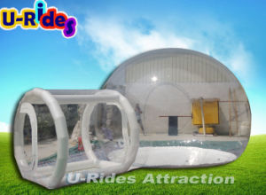 inflatable transparent bubble tent with inflatable tube for outdoor pictures & photos