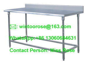 201/304 Stainless Steel Commercial Work Table With Backsplash