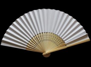 Cheap and Customized Plain Bamboo Paper Fan From Manufacuter
