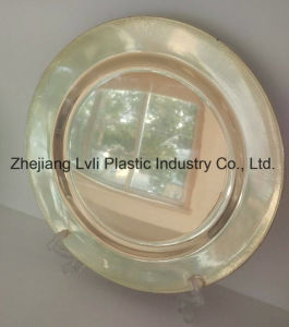 Plastic Plate, Disposable, Tableware, Tray, Dish, PS, Golden Plate, PA-01