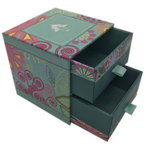 High Quality Handmade Paper Jewelry Box with Drawer