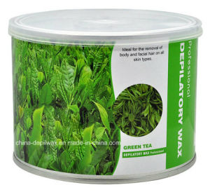 Professional Salon Depilatory Wax Green Tea of Strip Waxing pictures & photos