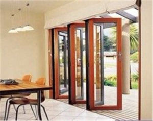 Aluminum Exterior Low E Glass Folding Door Bi-Fold Door