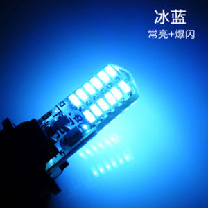 Hot Selling 7 Color Strobe Flash Light 3014 SMD 24 Chip 194 168 Car Auto License Plate Wedge Light Car Auto License Plate 12V pictures & photos