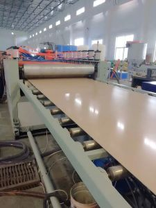 WPC PVC Wood Skinny Foam Board Extrusion Production Line pictures & photos