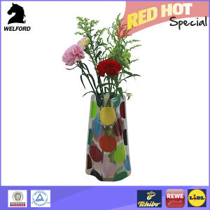 Foldable Plastic Flower Vase with Printing