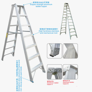 Aluminum Wide Folding Step Ladder with En131 Certificate