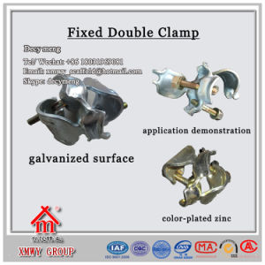 Safe Durable Scaffolding Fixed Double Coupler for Construction