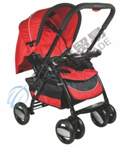 En1888 Approved 3 Position Adjustable Backrest Baby Stroller