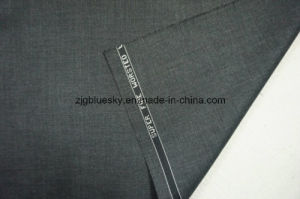 Dark Grey Wool Fabric for Suit with Viscose