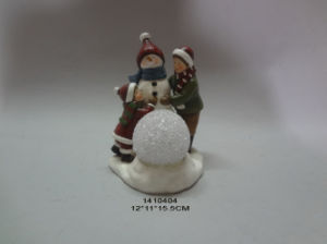 Polyresin Christmas Gift Sculpture Snowman for Decoration