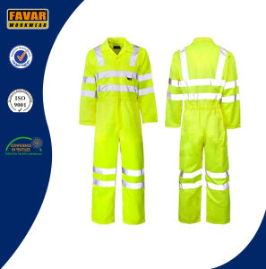 China Supplier Safety Waterproof Oxford High Visibility Reflective Tape Rain Coverall