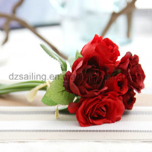 Colorful Decorative Wedding Rose Bouquet Artificial Flower (SF14651)