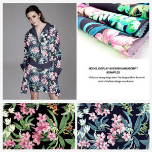 Digital Printed Polyester Fashion Garment and Home Textiles Fabric