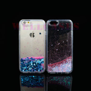 Wholesale Liquid Oil Glitter Quicksand Transparent Phone Case for iPhone5/6/6plus