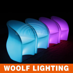 Modern Design Light Up Outdoor LED Plastic Chairs
