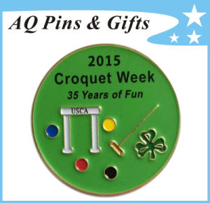 Year Recognition Pin Metal Badge for Croquet Week (badge-120) pictures & photos