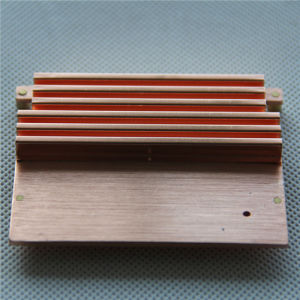 Copper C1102 Stamping Folded Fin Soldered Heatsink