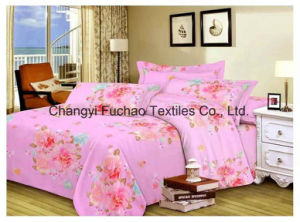 Poly/Cotton Material Printed Bedding Set Manufacture Bed Sheet pictures & photos