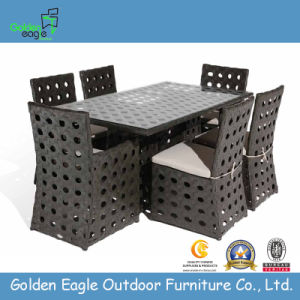 New Style Outdoor Dining Set with Shelf-Rattan Furniture (GP0013)