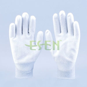 PU Coated Nylon Glove, Carbon Fiber Anti Static Gloves