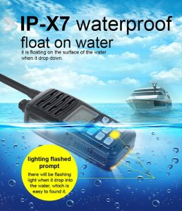 VHF Float Waterproof IP-X7 Marine Two Way Radio Tc-36m