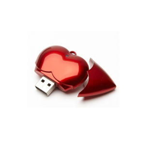 Heart Shape Wedding Gift USB Flash Drive Red Color USB Stick 8GB pictures & photos