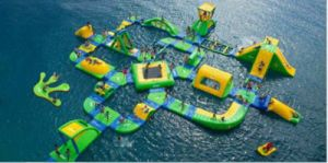 Promotion! Large Factory Cheap Aqua Inflatable Water Park (HL-003)