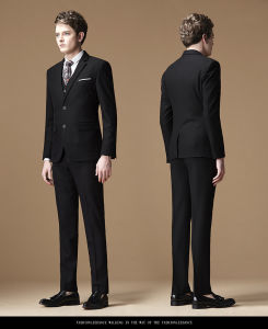 Men Business Formal Dress Suit
