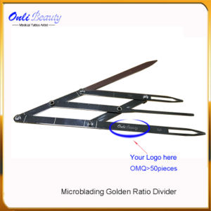 Golden Microblading Divider Eyebrow Ruler for Permanet Makeup pictures & photos