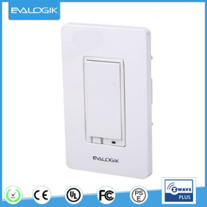 Wall Mounted Dimmer Switch Z Wave Wireless Smart Lighting Control Zw31