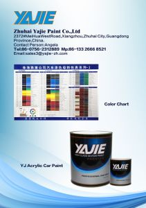 Yajie 1k Pearl for Automotive Paint pictures & photos