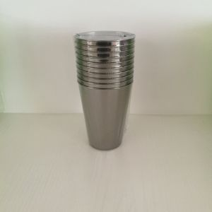 Glass, Mug, Tableware, PS, Transparent, Disposable, Colorful, GB-02, Plastic Cup, Silver